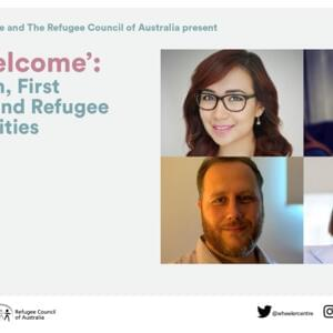 Promo image for  On 'Welcome': Migration, First Nations and Refugee Communities