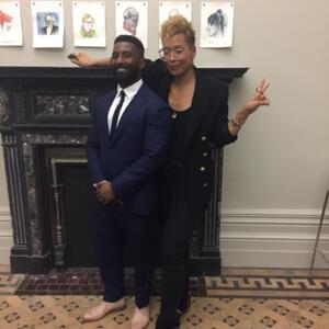 Photograph of Wesley Morris and Jenna Wortham in the Wheeler Centre's green room