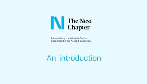 Promo image for Watch: An introduction to The Next Chapter, and a guide to applying