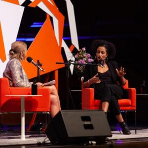 Photograph of Jia Tolentino and Zadie Smith