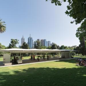 Photo of MPavilion in Melbourne's Queen Victoria Gardens