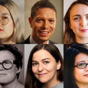 Clockwise from top-left: Becky Sui-Zhen, Daniel Browning, Jess O'Callaghan, Ivy Shih, Elizabeth Kulas and Helen Zaltzman