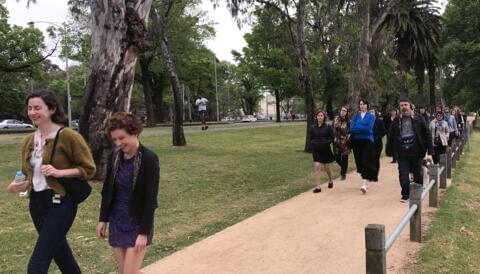 Cover image for of A Walk in the Park: Jessica Friedmann with Fiona Wright